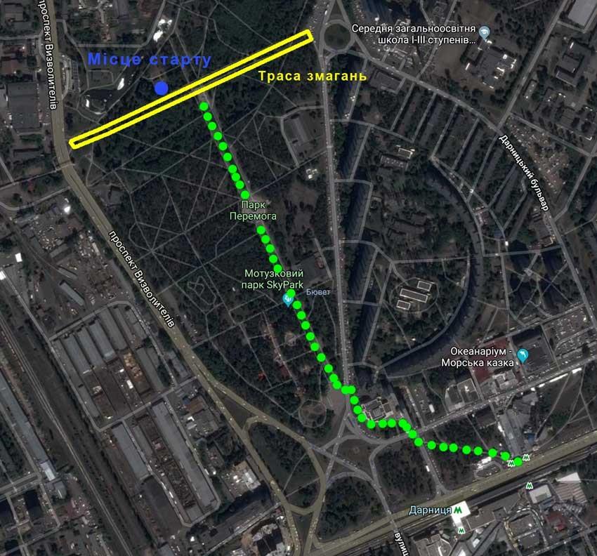карта 24 забега Киев 2019